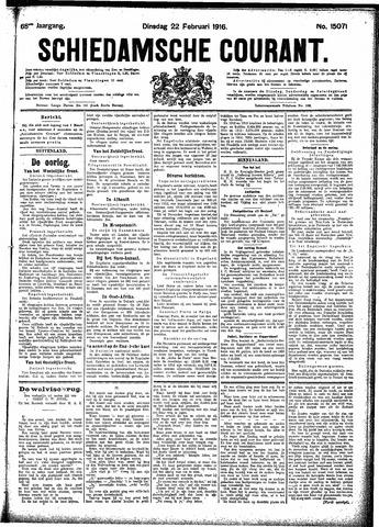 Schiedamsche Courant 1916-02-22