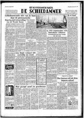 Rotterdamsch Parool / De Schiedammer 1949-04-02