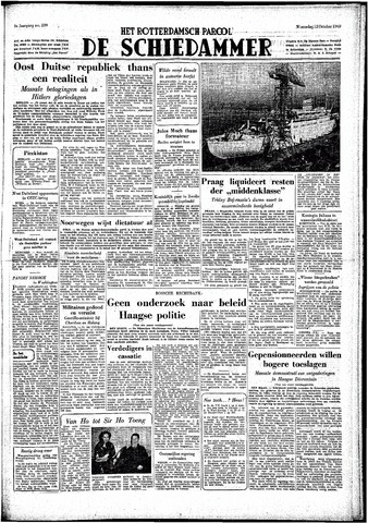 Rotterdamsch Parool / De Schiedammer 1949-10-12
