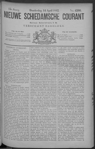 Nieuwe Schiedamsche Courant 1892-04-14