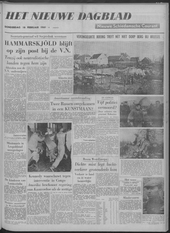 Nieuwe Schiedamsche Courant 1961-02-16