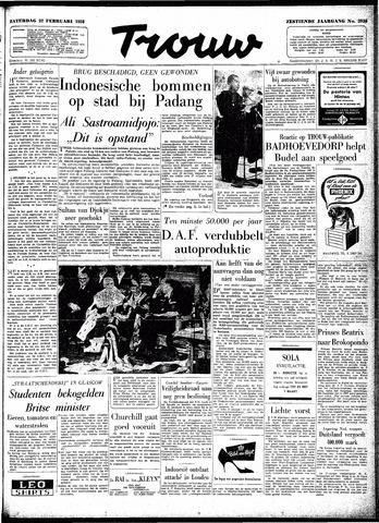 Trouw / De Rotterdammer 1958-02-22