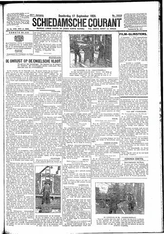 Schiedamsche Courant 1931-09-17