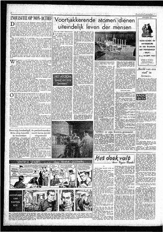 Rotterdamsch Parool / De Schiedammer 1957-09-05