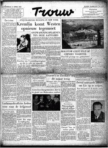 Trouw / De Rotterdammer 1953-04-02