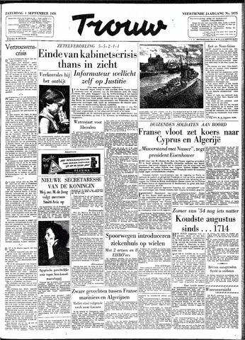 Trouw / De Rotterdammer 1956-09-01