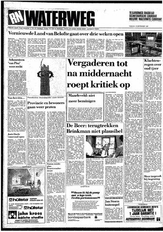 Rotterdamsch Nieuwsblad / Schiedamsche Courant / Rotterdams Dagblad / Waterweg / Algemeen Dagblad 1987-09-18