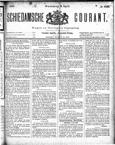 Schiedamsche Courant 1885-04-08