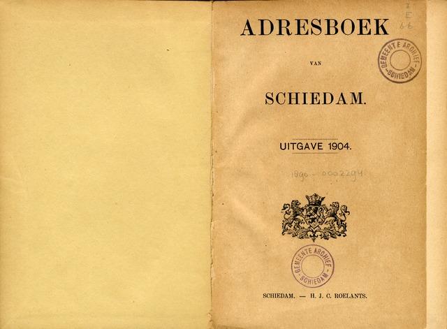 Adresboeken 1904