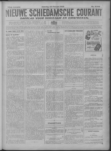 Nieuwe Schiedamsche Courant 1929-02-23