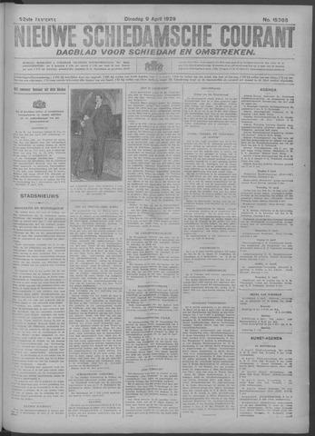 Nieuwe Schiedamsche Courant 1929-04-09