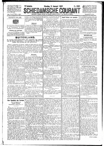 Schiedamsche Courant 1927-01-11
