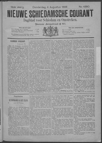 Nieuwe Schiedamsche Courant 1892-08-04