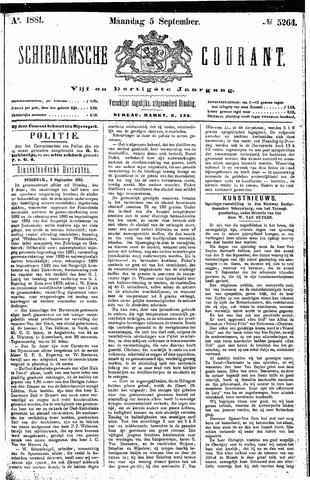 Schiedamsche Courant 1881-09-05