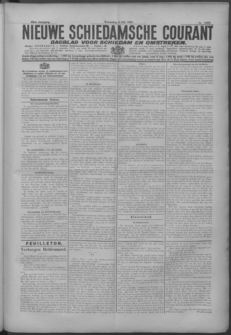 Nieuwe Schiedamsche Courant 1925-07-08