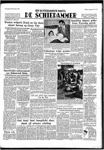 Rotterdamsch Parool / De Schiedammer 1948-11-18