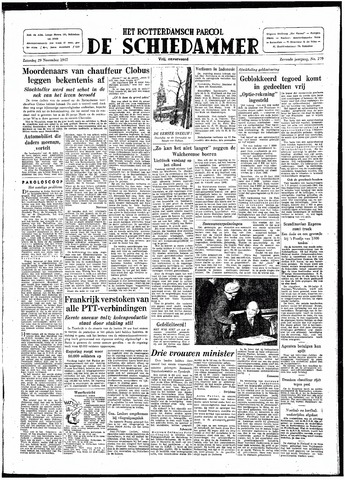 Rotterdamsch Parool / De Schiedammer 1947-11-29