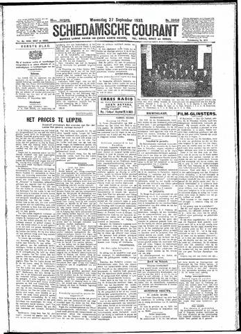 Schiedamsche Courant 1933-09-27