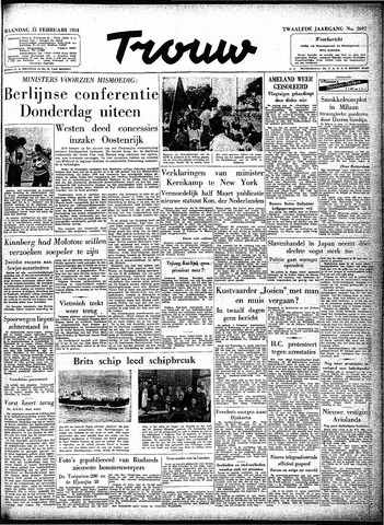 Trouw / De Rotterdammer 1954-02-15