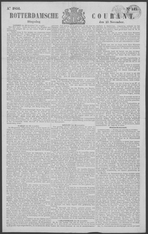 Rotterdamse Courant 1851-11-25