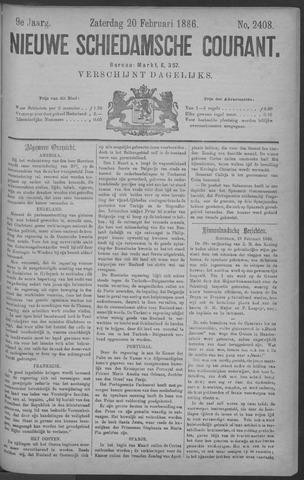 Nieuwe Schiedamsche Courant 1886-02-20