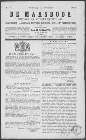 De Maasbode 1853-12-21
