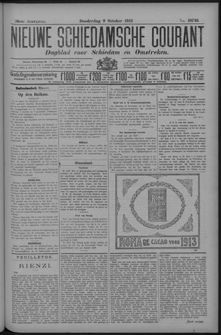 Nieuwe Schiedamsche Courant 1913-10-09
