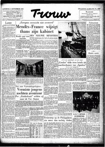 Trouw / De Rotterdammer 1954-09-04