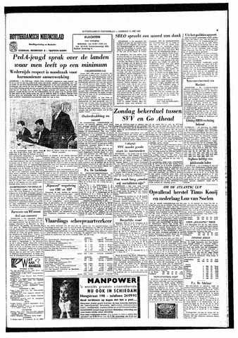 Rotterdamsch Nieuwsblad / Schiedamsche Courant / Rotterdams Dagblad / Waterweg / Algemeen Dagblad 1965-05-11