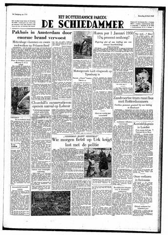 Rotterdamsch Parool / De Schiedammer 1949-07-23