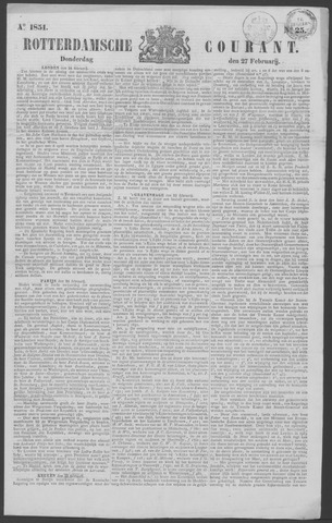 Rotterdamse Courant 1851-02-27
