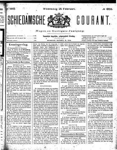 Schiedamsche Courant 1885-02-25