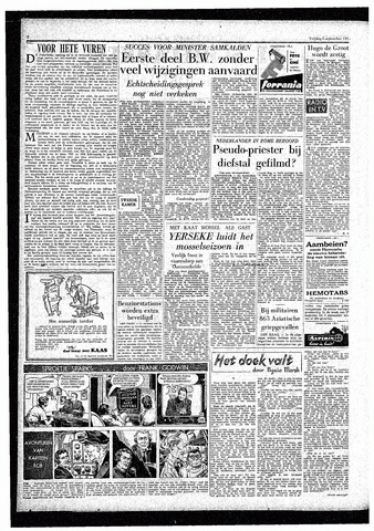 Rotterdamsch Parool / De Schiedammer 1957-09-06