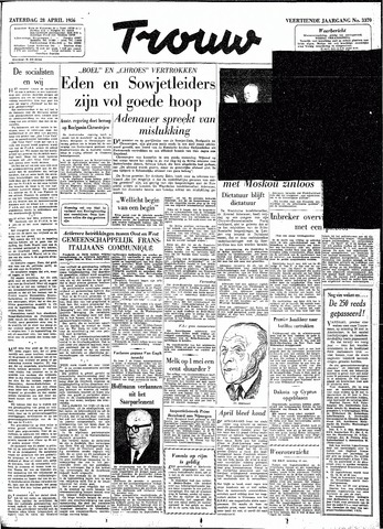 Trouw / De Rotterdammer 1956-04-28