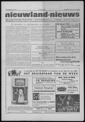 Nieuwland Nieuws 1965-09-23