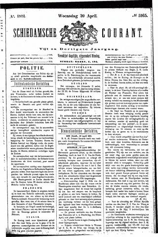 Schiedamsche Courant 1881-04-20