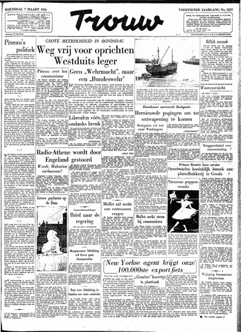 Trouw / De Rotterdammer 1956-03-07