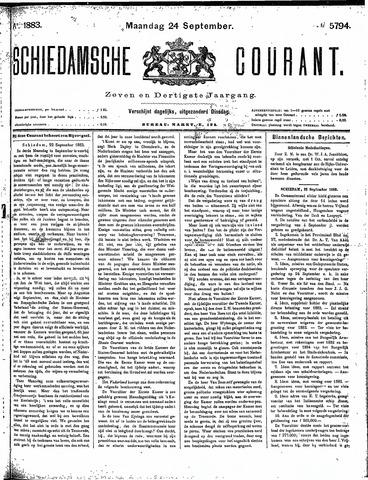 Schiedamsche Courant 1883-09-24