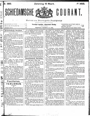 Schiedamsche Courant 1883-03-10