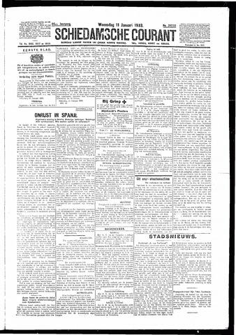Schiedamsche Courant 1933-01-11