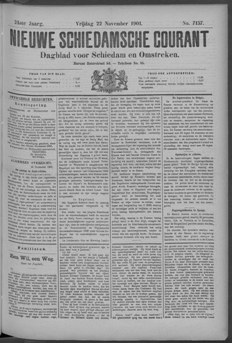 Nieuwe Schiedamsche Courant 1901-11-22