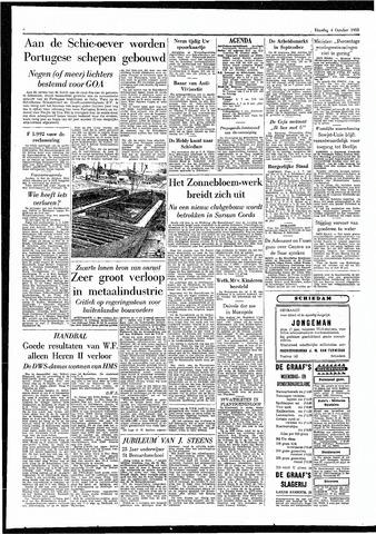 Rotterdamsch Parool / De Schiedammer 1955-10-04