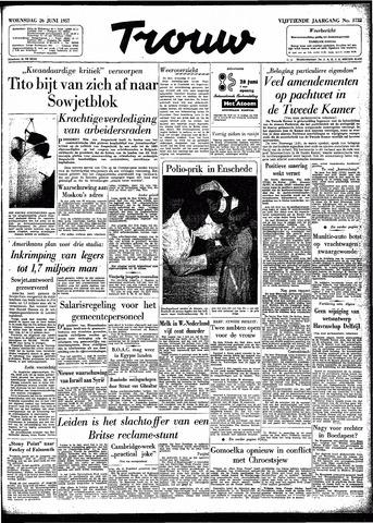 Trouw / De Rotterdammer 1957-06-26