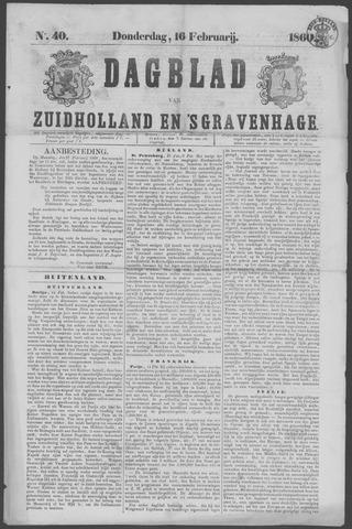 Dagblad van Zuid-Holland 1860-02-16