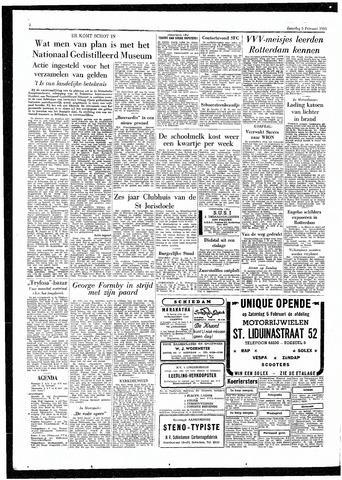 Rotterdamsch Parool / De Schiedammer 1955-02-05