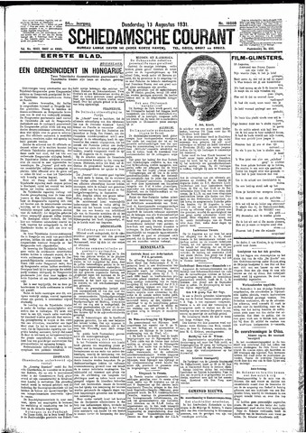 Schiedamsche Courant 1931-08-13