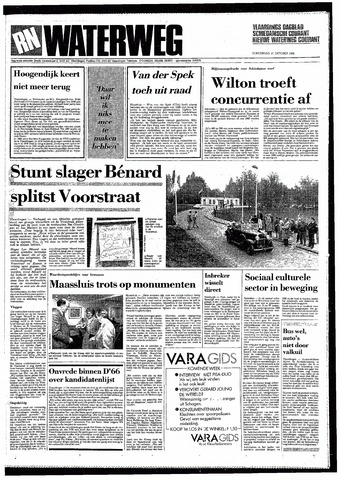 Rotterdamsch Nieuwsblad / Schiedamsche Courant / Rotterdams Dagblad / Waterweg / Algemeen Dagblad 1985-10-31