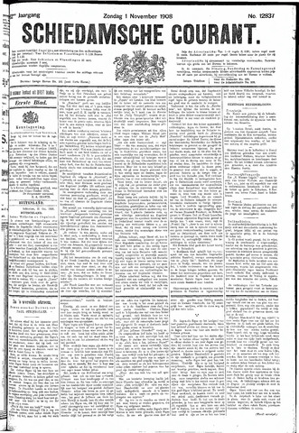 Schiedamsche Courant 1908-11-01