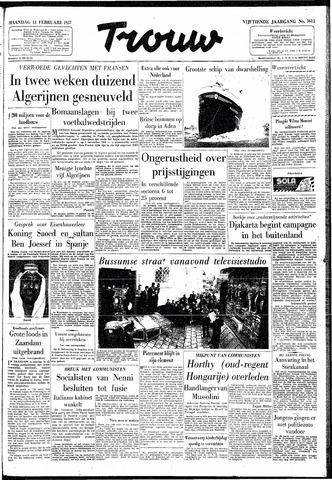 Trouw / De Rotterdammer 1957-02-11