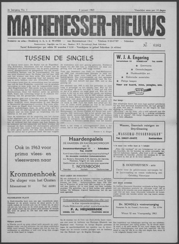 Mathenesser Nieuws 1963-01-04